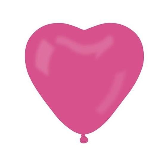 "Balon CR pastel ""Serce bez nadruku"" - ""różowy 07"" / 50 szt"