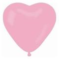 "Balon CR pastel ""Serce bez nadruku"" - różowy 06 / 50 szt."