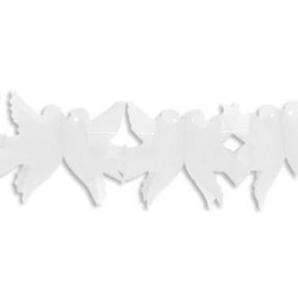 """Girlanda """"Gołąbki"""" (białe) - 24,5*16*550 cm"""