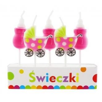 """Świeczki Pikery """"Pink Baby"""", 5 szt."""
