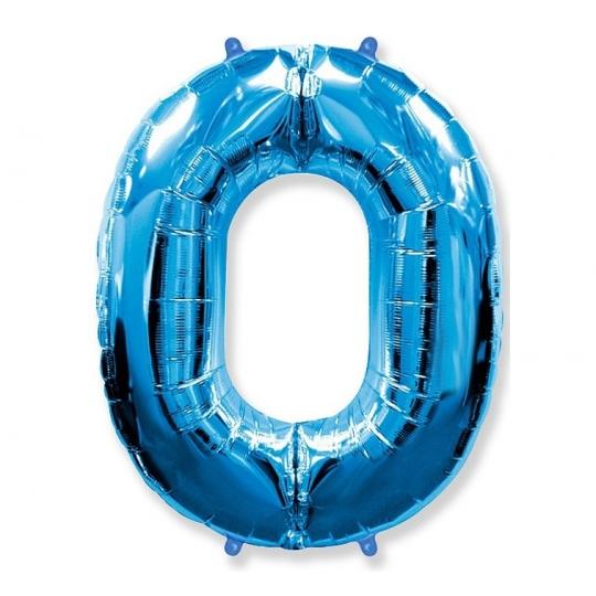 """Balon foliowy FX - """"Number 0"""" niebieski, 85 cm"""