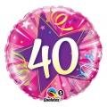 """Balon foliowy 18"""" QL CIR """"40, różowy"""" ST ASORT"""