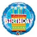 "Balon foliowy 18"" QL CIR ""Happy Birthday Tort ze Świeczkami"" ST ASORT"
