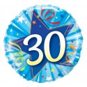 "Balon foliowy 18"" QL CIR ""30, niebieski"" ST ASORT"