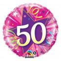 """Balon foliowy 18"""" QL CIR """"50, różowy"""""""