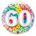 """Balon foliowy 18"""" QL CIR """"60 Confetti"""""""