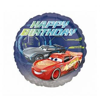 "Balon foliowy 18'' CIR - ""Cars - Happy Birthday"""
