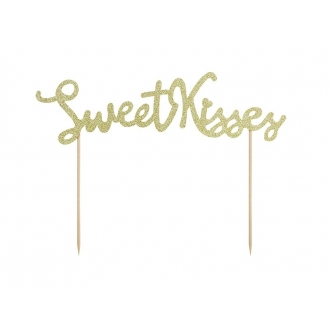 Topper na tort Sweet Love - Sweet Kisses, 1szt.
