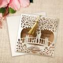 Zaproszenia Ślubne Para Młoda na Mostku F2680