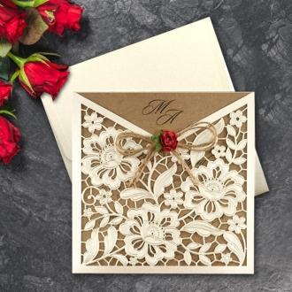 Zaproszenia Ślubne Złocone i Tłoczone F2676