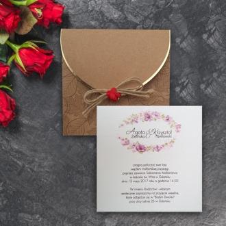 Zaproszenia Ślubne z Różyczką i Klonem F2691