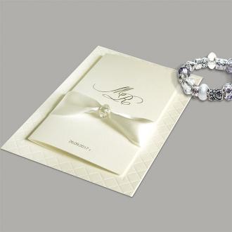 Zaproszenia Ślubne z Tłoczeniem w Postaci Kratki F1280tz