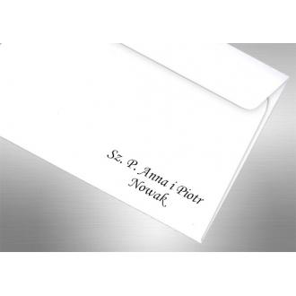 Personalizacja na Kopertach do Zaproszeń