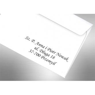 Adresowanie Kopert do Zaproszeń