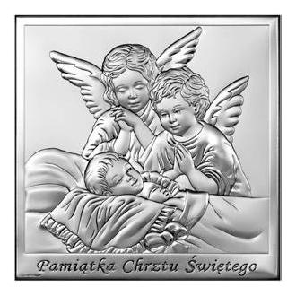 Obrazek z Dwoma Aniołkami nad Dzieckiem WBC6444