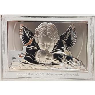 Obrazek z Aniołkiem Czuwającym nad Dzieckiem WVL81288PL