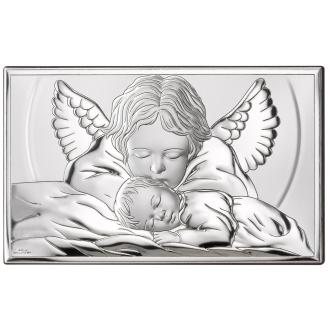Obrazek z Aniołkiem Czuwającym nad Dzieckiem WVL81288