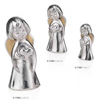 Figurka Srebrna Aniołek z Sercem