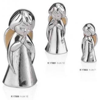 Figurka Srebrna Aniołek Modlący
