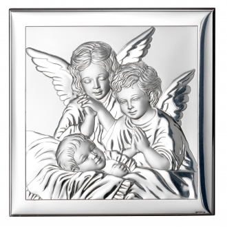 Obrazek z Dwoma Aniołkami nad Dzieckiem WVL801