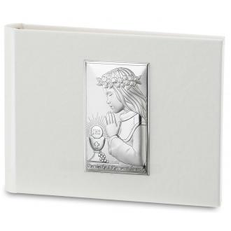 Album z Srebrnym Obrazkiem Komunia Dziewczynka WVL53565