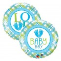 "Balon foliowy 18"" QL CIR ""Baby Boy Lo(FEET)e"""