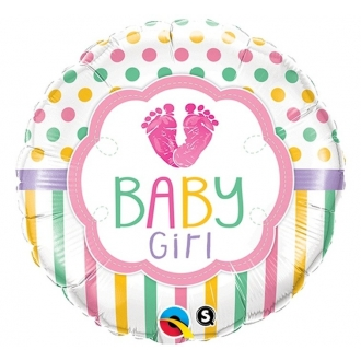 "Balon foliowy 18"" QL CIR ""Baby Girl Lo(FEET)e"""