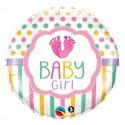 "Balon foliowy 18"" QL CIR ""Baby Girl Lo(FEET)e"""