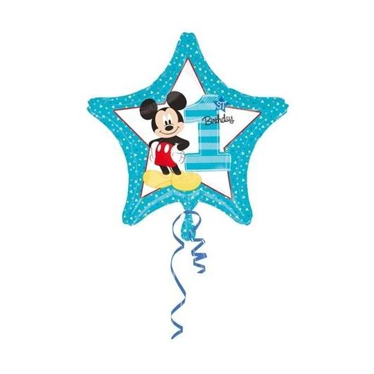 "Balon foliowy 18"" STR - ""Mickey 1st Birthday"""