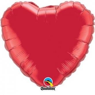"""Balon foliowy 18"""" QL HRT """"Serce czerwone"""" (pakowane ind.)"""
