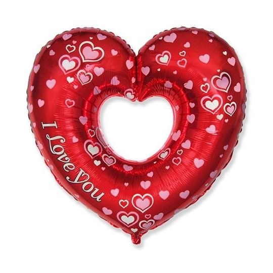 "Balon foliowy 24"" FX - ""Piękne serce - J Love You"""