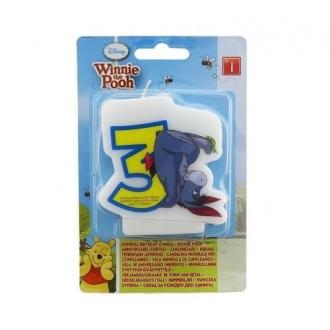 """Świeczka Disney """"Winne Alphabet 3"""""""