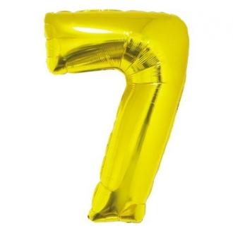 """Balon foliowy """"Cyfra 7"""", złota, 85 cm"""