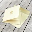 Zaproszenia Ślubne Kwadratowe Kremowe F1229