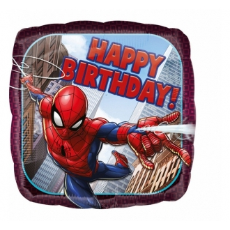 "Balon foliowy 18"" SQR ""Spiderman Happy Birthday"""