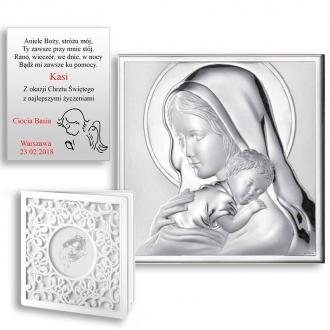Obrazek Srebrny z Maryją Tulącą Dzieciątko Jezus WM000524_7