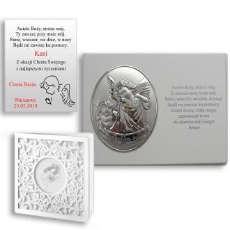 Obrazek Srebrny Aniołka na Panelu z Napisem WVL815S