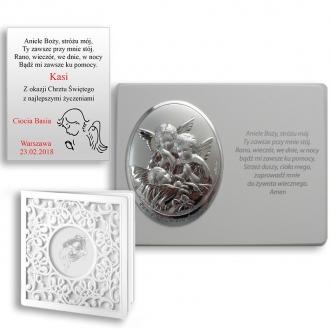 Obrazek Srebrny Aniołków na Panelu z Napisem WVL816S
