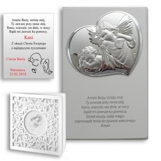 Obrazek Srebrny Aniołka na Panelu z Napisem WVL812S