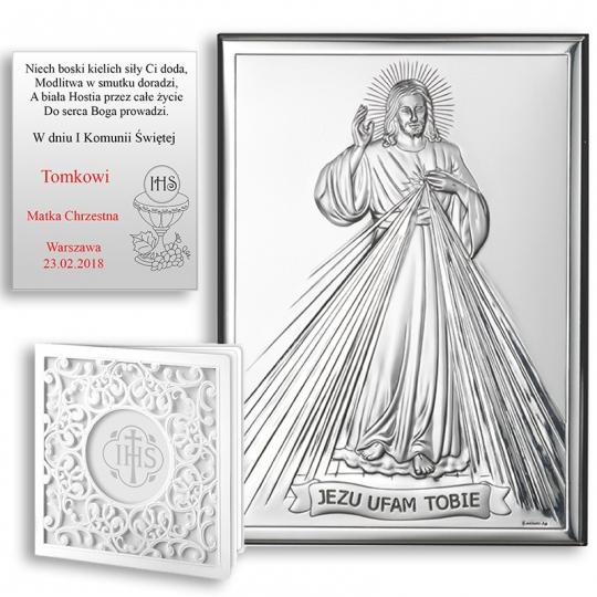 "Obrazek Srebrny ""Jezu Ufam Tobie"" WVL80001"