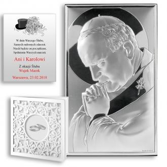 Obrazek Srebrny z Janem Pawłem II