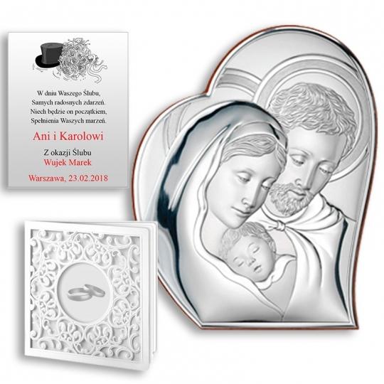 Obrazek Srebrny ze Świętą Rodziną WVL81050
