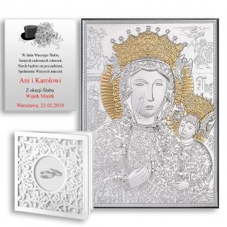 Obrazek Srebrny z Matką Boską Częstochowską WV18045