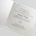 Zaproszenia Ślubne z delikatną fakturą F1447