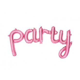 Balon foliowy Party, 80x40cm, róż