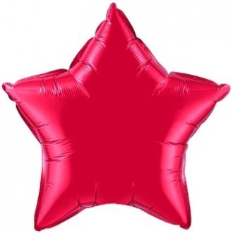 """Balon foliowy 20"""" QL STR """"Gwiazda czerwona"""" (pakowane ind.)"""