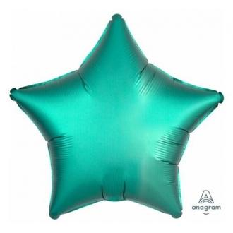Balon foliowy Satyna Lux S15, STR Zielony, 43 cm