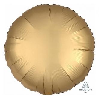 Balon foliowy Satyna Lux S15, CIR Złoty, 43 cm