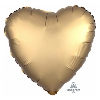 "Balon foliowy ""Gold Sateen Heart """