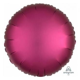 Balon foliowy Satyna Lux S15, CIR Ciemny Róż, 43 cm